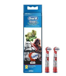 Орал-би стейджес пауэр насадки д/электрической зубной щетки детские eb10k star wars n2