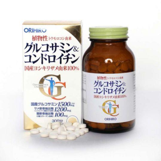 Орихиро глюкозамин и хондроитин таблетки 360 шт., фото №1