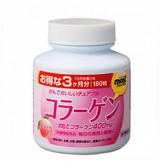Орихиро коллаген со вкусом персика таб. n180