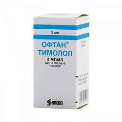 Офтан тимолол 0,5% 5мл капли глазные