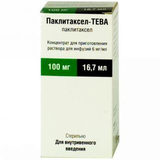 Паклитаксел-тева 6мг/мл 16,7мл концентрат д/приготовления р-ра д/инфузий