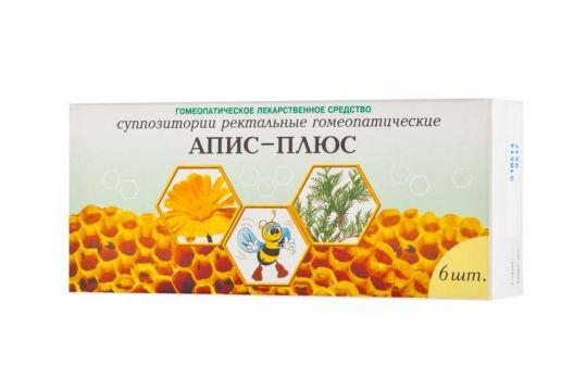 Апис-плюс 6 шт. суппозитории ректальные гомеопатические, фото №1