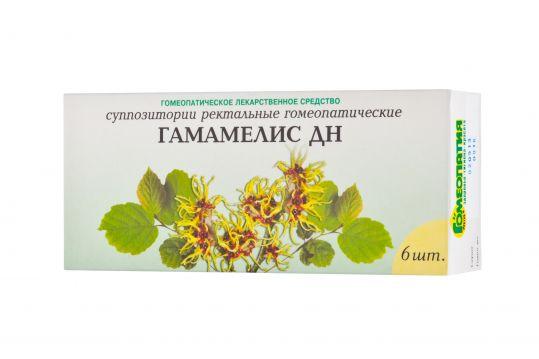 Гамамелис дн 6 шт. суппозитории ректальные гомеопатические, фото №1