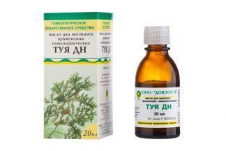 Туя дн  20мл масло д/местного применения гомеопатическое