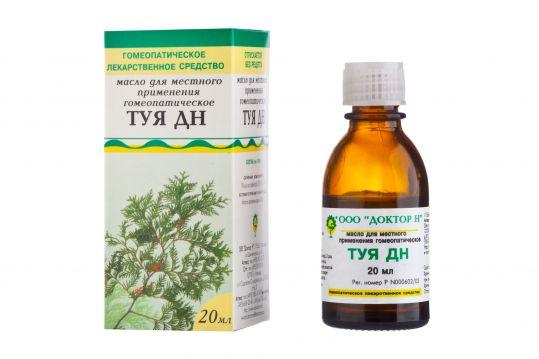 Туя дн 20мл масло для местного применения гомеопатическое, фото №1