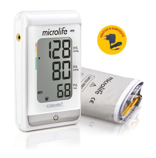 Микролайф тонометр автоматический вр а150 afib с функцией выявления риска инсульта с адаптером и манжетой размер m-l (22-42см), фото №1