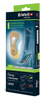 Би велл полустельки ортопедические для обуви на высоком каблуке арт.fw-619 размер 36