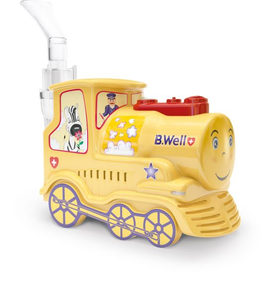 Би велл ингалятор компрессорный pro-115 k детский паровозик, фото №1