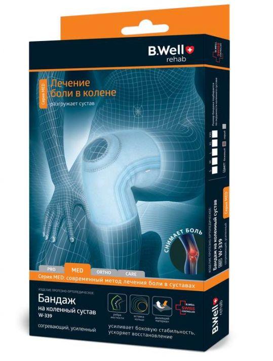 Би велл бандаж на коленный сустав w-339 размер l серый, фото №1
