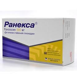 Ранекса 500мг 60 шт. таблетки пролонгированного действия