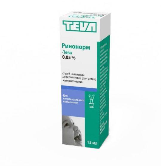 Ринонорм-тева 0,05% 15мл спрей назальный дозированный для детей, фото №1