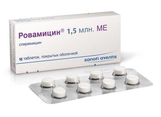 Ровамицин 1,5млн. 16 шт. таблетки покрытые пленочной оболочкой, фото №1