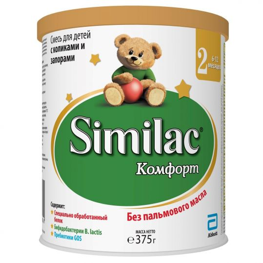 Симилак 2 смесь сухая для детей комфорт 375г, фото №1