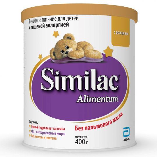 Симилак алиментум смесь сухая для детей 0+ 400г, фото №1