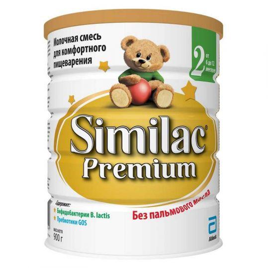 Симилак премиум 2 смесь молочная для детей 900г, фото №1