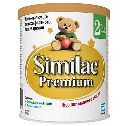 Симилак премиум 2 смесь молочная для детей 400г