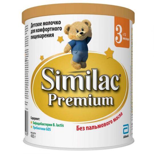 Симилак премиум 3 смесь молочная 12+ 400г, фото №1