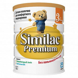 Симилак премиум 3 смесь молочная для детей 12+ 900г