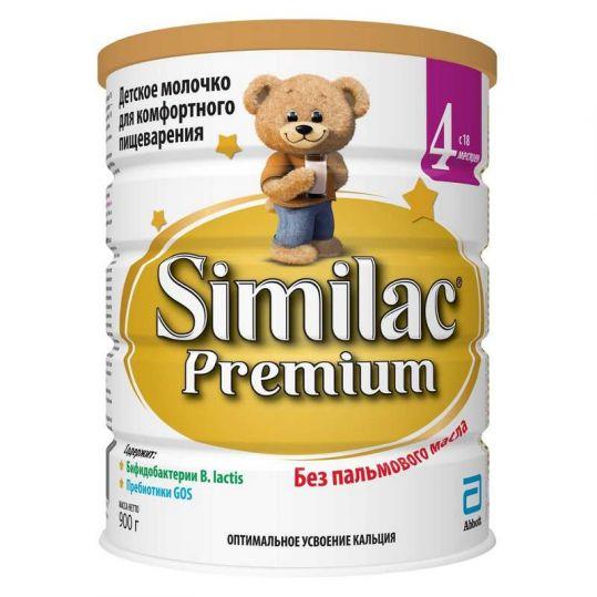 Симилак премиум 4 смесь молочная для детей 900г, фото №1