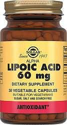 Солгар альфа-липоевая кислота капсулы 60мг 30 шт.