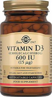 Солгар витамин д3 капсулы 600ме 60 шт.