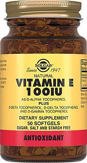 Солгар витамин е капсулы 100ме 50 шт.