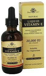 Солгар витамин е жидкость 60мл флакон -капельница