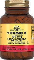 Солгар витамин к таблетки 100мкг 100 шт.
