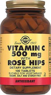 Солгар витамин с и шиповник таблетки 100 шт.