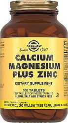 Солгар кальций-магний-цинк таблетки 100 шт.
