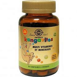 Солгар кангавитес мультивитамины и минералы таблетки жевательные для детей со вкусом тропических фруктов 60 шт.