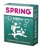 Спринг баблс презервативы с пупырышками 3 шт.