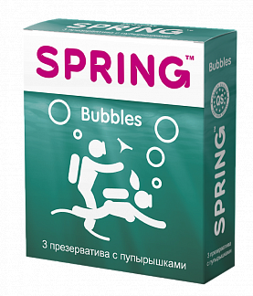 Спринг баблс презервативы с пупырышками n3