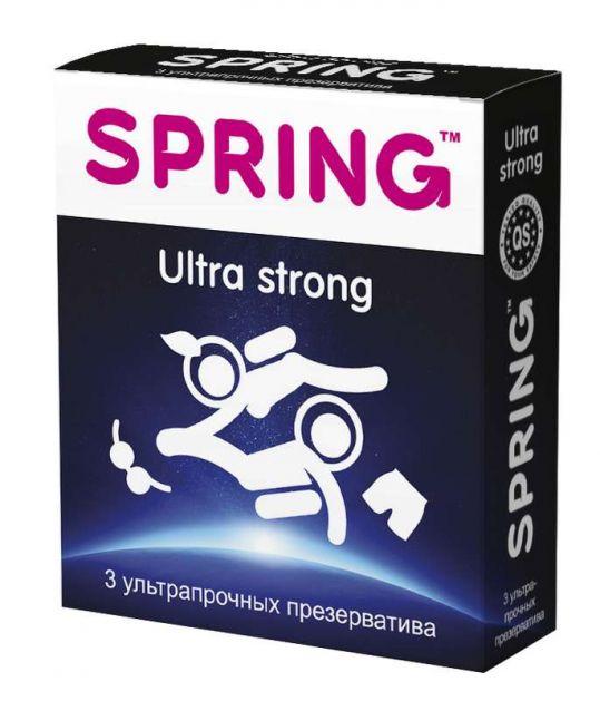 Спринг ультра стронг презервативы ультра-прочные 3 шт., фото №1