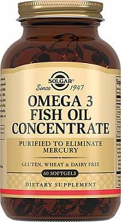 Солгар концентрат рыбьего жира омега-3 капсулы 60 шт.