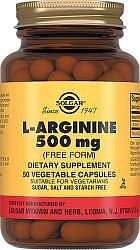 Солгар л-аргинин капсулы 500мг 50 шт.