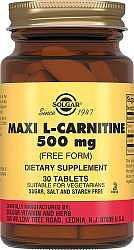 Солгар л-карнитин таблетки 500мг 30 шт.