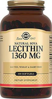 Солгар лецитин соевый натуральный капсулы 100 шт.