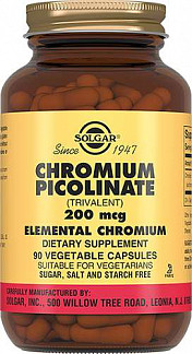 Солгар пиколинат хрома капсулы 90 шт.