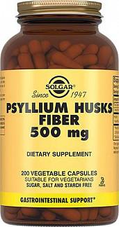 Солгар псиллиум пищевые волокна капсулы 500мг 200 шт.