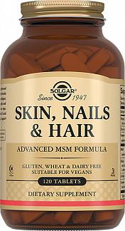 Солгар таблетки кожа, волосы, ногти 120 шт.