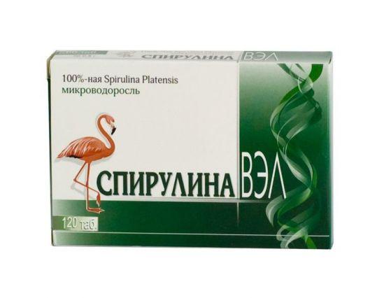Спирулина вэл таблетки 120 шт., фото №1