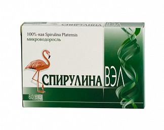 Спирулина вэл таблетки 60 шт.