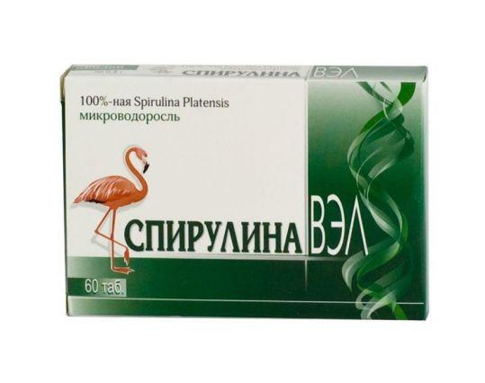 Спирулина вэл таблетки 60 шт., фото №1