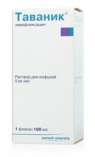 Таваник 5мг/мл 100мл раствор для инфузий