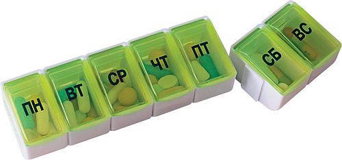 Пилюля таблетница арт.3715 на 7 дней трансформер, фото №2