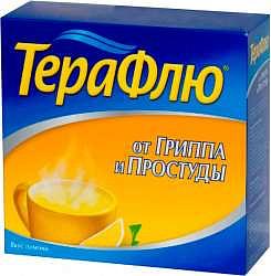Терафлю от гриппа и простуды 22,1г 14 шт. порошок для приготовления раствора для приема внутрь [лимонный]