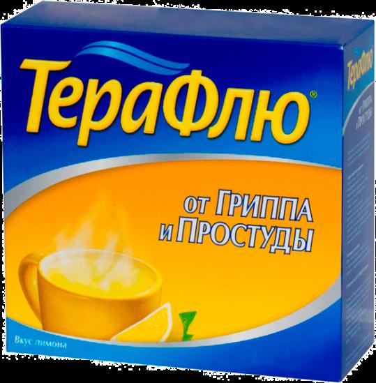 Терафлю от гриппа и простуды 22,1г n14 порошок д/приготовления раствора для приема внутрь [лимонный], фото №1