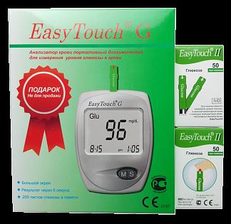 Изи тач тест-полоски д/опред глюкозы в крови n50х2+глюкометр в подарок