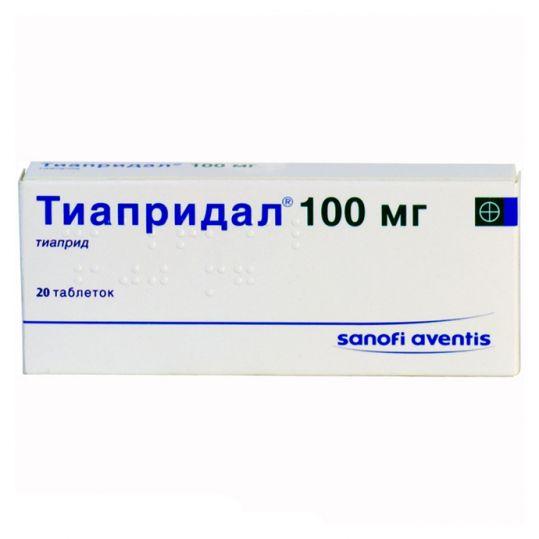 Тиапридал 100мг 20 шт. таблетки, фото №1